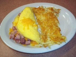 Ham and Cheddar Cheese Omelet