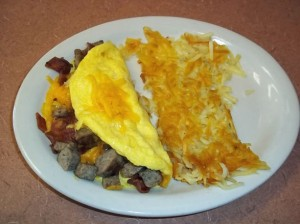 Bacon or Country Sausage Omelet