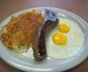 Chicken Apple Sausage and Two Eggs