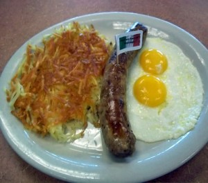 Italian Sausage and Two Eggs*