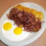 Homemade Corn Beef Hash and Two Eggs