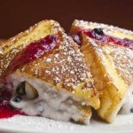 Stuffed French Toast ~ Ask your server for today's flavor (some selections are topped with nuts