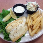 Grilled Haddock Lunch