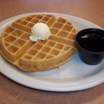 Premium Waffle with Maple Syrup